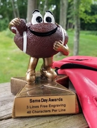 LIL' BUDDY<BR> FOOTBALL TROPHY<BR> 4 Inches