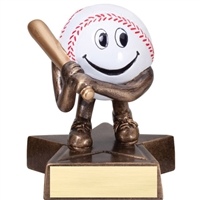 LIL' BUDDY<BR> BASEBALL TROPHY<BR> 4 Inches