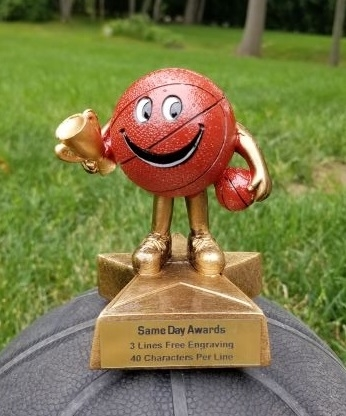 LIL' BUDDY<BR> BASKETBALL TROPHY<BR> 4 Inches
