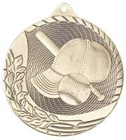 Laser Back<BR> Baseball Medal<BR> Gold/Silver/Bronze<BR> 2 Inches