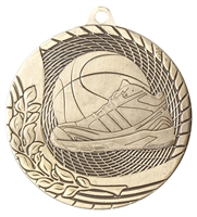 Laser Back<BR> Basketball Medal<BR> Gold/Silver/Bronze<BR> 2 Inches