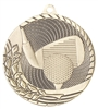 Laser Back<BR> Golf Medal<BR> Gold/Silver/Bronze<BR> 2 Inches