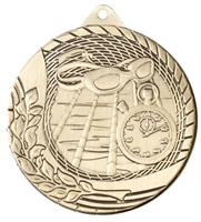 Laser Back<BR> Swimming Medal<BR> Gold/Silver/Bronze<BR> 2 Inches