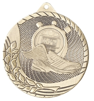 Laser Back<BR> Track Medal<BR> Gold/Silver/Bronze<BR> 2 Inches
