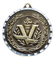 Diamond Cut XXL<BR> Victory Medal<BR> Gold/Silver/Bronze<BR> 2.75 Inches