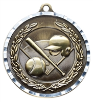 Diamond Cut XXL<BR> Baseball Medal<BR> Gold/Silver/Bronze<BR> 2.75 Inches