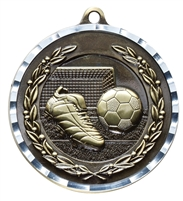 Diamond Cut XXL<BR> Soccer Medal<BR> Gold/Silver/Bronze<BR> 2.75 Inches