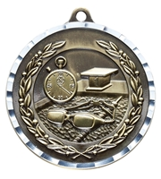 Diamond Cut XXL<BR> Swimming Medal<BR> Gold/Silver/Bronze<BR> 2.75 Inches