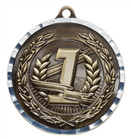 Diamond Cut XXL<BR> 1st Place Medal<BR> Gold<BR> 2.75 Inches