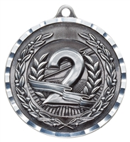 Diamond Cut XXL<BR> 2nd Place Medal<BR> Silver<BR> 2.75 Inches
