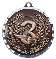 Diamond Cut XXL<BR> 3rd Place Medal<BR> Bronze<BR> 2.75 Inches