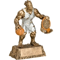 Basketball Trophy <BR> Monster <BR>6.75 Inches