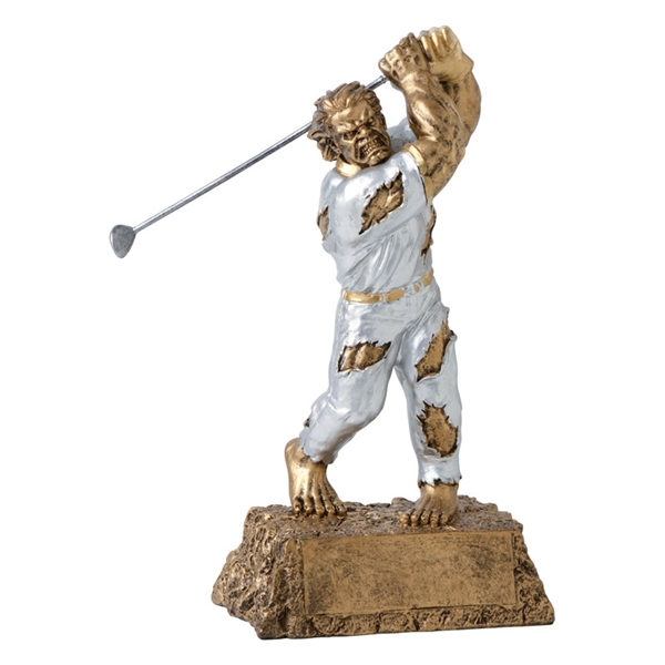 Golf Trophy <BR> Monster <BR>6.75 Inches