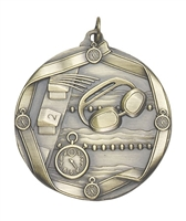 Olympic Swim Medal<BR> Gold/Silver/Bronze<BR> 2.25 Inches