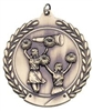 Die Cast XXL<BR> Cheerleading Medal<BR> Gold/Silver/Bronze<BR> 2.75 Inches