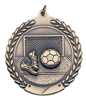 Die Cast XXL<BR> Soccer Medal<BR> Gold/Silver/Bronze<BR> 2.75 Inches