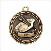 Art Medal<BR> Gold<BR> 2 Inches