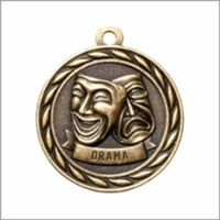 Drama Medal<BR> Gold<BR> 2 Inches
