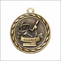 Science Medal<BR> Gold/Silver/Bronze<BR> 2 Inches