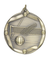 Olympic Volleyball Medal<BR> Gold/Silver/Bronze<BR> 2.25 Inches