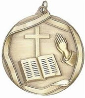 Olympic Religion Medal<BR> Gold/Silver/Bronze<BR> 2.25 Inches