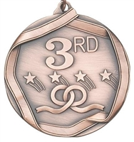 Olympic 3rd Place Medal<BR> Bronze<BR> 2.25 Inches