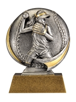Mini Motion<BR> Softball Trophy<BR> 5 Inches