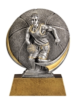 Mini Motion<BR> Male Basketball Trophy<BR> 5 Inches