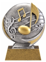 Mini Motion<BR> Music Trophy<BR> 5 Inches