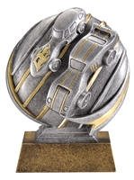 Mini Motion<BR> Pinewood Derby Trophy<BR> 5 Inches