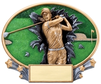 Female Golf<BR> Explosion Trophy<BR> 6 Inches