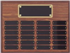 24 Plate<BR> Walnut Finish<BR> Perpetual Plaque<BR> 12x16 Inches