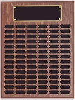 72/84 or 102 Plate<BR> Walnut Finish<BR> Perpetual Plaque<BR> 18x24 Inches