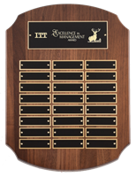 24 Plate<BR> Premium Walnut<BR> Perpetual Shield Plaque<BR> 11x15 Inches