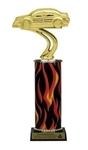 Flame Column<BR> Rally Car Trophy<BR> 10-12 Inches