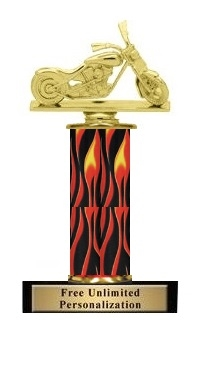 Flame Column<BR> Chopper Trophy<BR> 10-12 Inches
