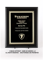 Ebony Finish Plaque<BR> Economy Corporate<BR> Black and Gold<BR> 5x7 to 9x12