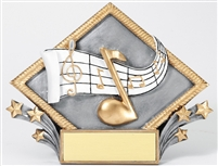 3-D Diamond<BR> Music Trophy<BR> 6 Inches