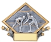 3-D Diamond<BR> Wrestling Trophy<BR> 6 Inches