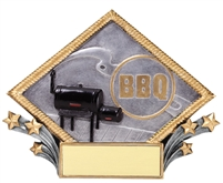 3-D Diamond<BR> BBQ Trophy<BR> 6 Inches