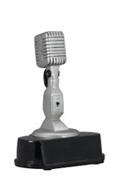 Vintage Microphone Trophy<BR> 5.75 Inches