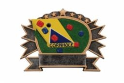 Cornhole<BR> Burster Trophy<BR> 6.75 Inches Tall