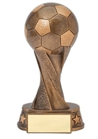 Spiral Soccer Trophy<BR> 5.5 Inches to 10,5 Inches