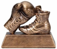 Gold Boxing Trophy<BR> 6.5 Inches