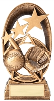 Radiant Star<BR> Baseball Trophy<BR> 6.5 Inches