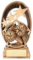 Radiant Star<BR> Cheerleading Trophy<BR> 6.5 Inches