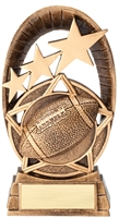 Radiant Star<BR> Football Trophy<BR> 6.5 Inches