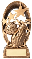 Radiant Star<BR> Golf Trophy<BR> 6.5 Inches