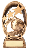 Radiant Star<BR> Volleyball Trophy<BR> 6.5 Inches