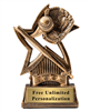 Star Baseball Trophy<BR> 6 Inches